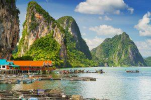 Thajsko vesnička u ostrova Ko Panyi